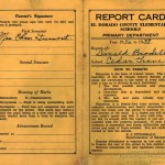Report card of Donald Brodell (courtesy of Mildred Atkins, his mother)