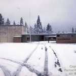 Pinewood School in 1961 minus the stage and office