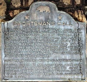 The Plaque at Sportsmans Hall