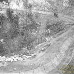 The ditch above Forebay Lake during resurfacing (1923)