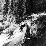Early Wooden Flume