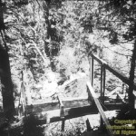 Early wooden flume from above