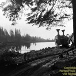 Forebay Lake in 1923 as it was being built