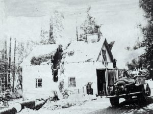 Fire Department building after a storm (about 1940)